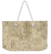 Machines To Lift Water Draw Water From Well And Bring It Into Houses From Atlantic Codex  Weekender Tote Bag