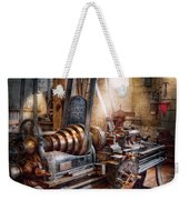 Machinist - Fire Department Lathe Weekender Tote Bag by Mike Savad