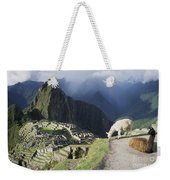 Machu Picchu And Llamas Weekender Tote Bag