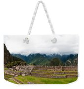 Machu Picchu Main Square And The Group Of The Three Doorways Weekender Tote Bag