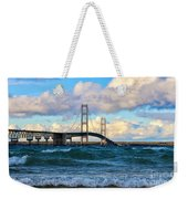 Mackinac Among The Waves Weekender Tote Bag