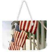 Mackinac Island Michigan - The Grand Hotel - American Flags Weekender Tote Bag