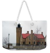 Mackinaw Point Lighthouse Weekender Tote Bag