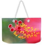 Macro Close Up Of Hibiscus Pollen  Weekender Tote Bag