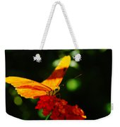 Macro Of An Orange Butterfly Weekender Tote Bag