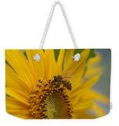 Macro Of Bee On Sunflower...   # Weekender Tote Bag
