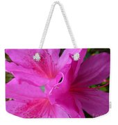 Macro Purple Azalea Flower Weekender Tote Bag
