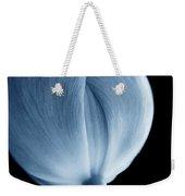 Macro Tulip Flower Blue Weekender Tote Bag