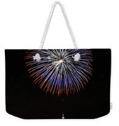 Fireworks Over The Empire State Building Weekender Tote Bag by Nishanth Gopinathan