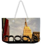 Macy's With Empire State Building - Famous Buildings And Landmarks Of New York City Weekender Tote Bag