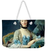 Madame De Sorquainville, 1749 Oil On Canvas Weekender Tote Bag