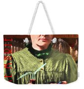 Madame Marie Curie Shaking Up A Killer Martini At The Swank Hipster Club 88 20140625 With Text Weekender Tote Bag