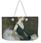 Madame Marthe Letellier Sitting On A Sofa Weekender Tote Bag by Paul Cesar Helleu