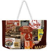 Made In Ohio Products Vintage Map On Wood Weekender Tote Bag