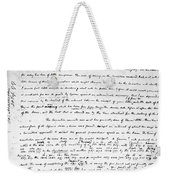Madison To Jefferson, 1787 Weekender Tote Bag