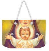 Madonna And Baby Jesus Weekender Tote Bag by Zorina Baldescu