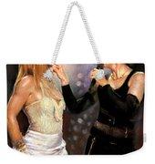 Madonna And Britney Spears  Weekender Tote Bag