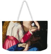 Madonna And Child Weekender Tote Bag by Alessandro Allori