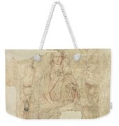 Madonna And Child Enthroned, Drawing For A Fresco Sinopia On Paper Weekender Tote Bag