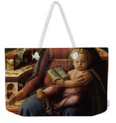 Madonna And Child Enthroned With Two Angels Weekender Tote Bag