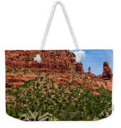 Madonna And Child Two Nuns Rock Formations Sedona Arizona Weekender Tote Bag