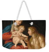 Madonna And Child With Mary Magdalene  Weekender Tote Bag