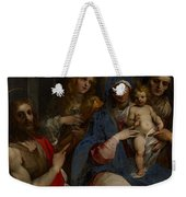 Madonna And Child With Saints John The Baptist With Mary Magdalene And Anne Weekender Tote Bag by Guiseppe Cesari