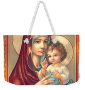 Madonna And Sitting Baby Jesus Weekender Tote Bag by Zorina Baldescu