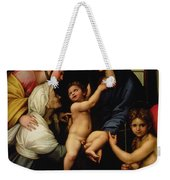 Madonna Dell'impannata Weekender Tote Bag by Raphael