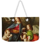 Madonna Of The Rocks Weekender Tote Bag