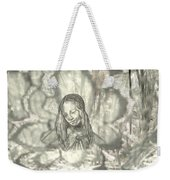Madonna On Black And White Screen Weekender Tote Bag