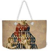 Madonna Typography Artwork Weekender Tote Bag