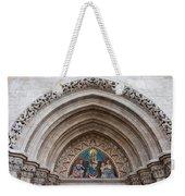 Madonna With Child On Matthias Church Tympanum Weekender Tote Bag