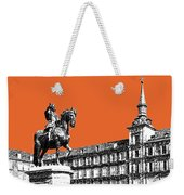 Madrid Skyline Plaza Mayor - Coral Weekender Tote Bag