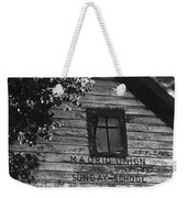 Madrid Union Sunday School Ghost Town Madrid New Mexico 1968-2008 Weekender Tote Bag