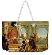 Maecenas Presenting The Liberal Arts To The Emperor Augustus Weekender Tote Bag