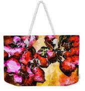 Magenta Flowers  -- Cubism Weekender Tote Bag