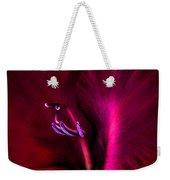 Magenta Gladiola Flower Weekender Tote Bag
