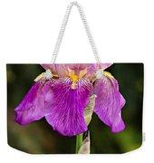Magenta Iris Crop Weekender Tote Bag