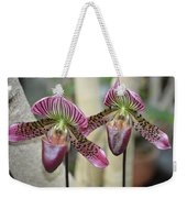 Magenta  Lady Slippers Weekender Tote Bag