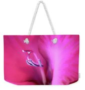 Magenta Splendor Gladiola Flower Weekender Tote Bag