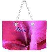 Magenta Splendor Gladiola Flower Weekender Tote Bag by Jennie Marie Schell