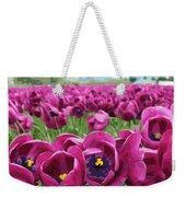 Magenta Tulips Weekender Tote Bag
