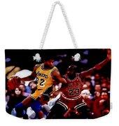 Magic And Jordan At Work Weekender Tote Bag