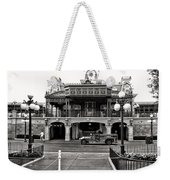 Magic Kingdom Train Station In Black And White Walt Disney World Weekender Tote Bag