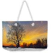 Magical Winter Sunset Weekender Tote Bag