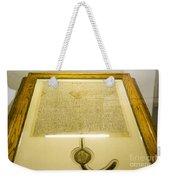 Magna Carta Weekender Tote Bag by Steven Ralser