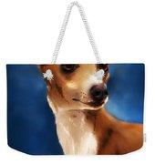 Magnifico - Italian Greyhound Weekender Tote Bag by Michelle Wrighton