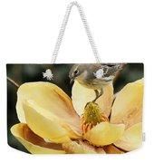 Magnolia And Warbler Photo Weekender Tote Bag
