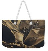 Magnolia Blossom In Sepia Weekender Tote Bag